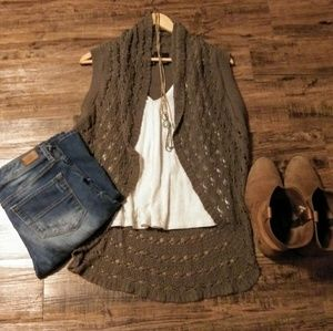 New Direction Cardigan Knit Vest